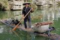 Chinese cormorant fisherman Stock Images