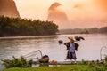 Chinese Cormorant Fisherman Royalty Free Stock Photo