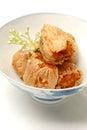 Chinese crab ball starter before main dish Royalty Free Stock Image