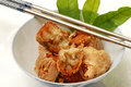Chinese crab ball starter before main dish Royalty Free Stock Photography
