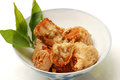 Chinese crab ball starter before main dish Royalty Free Stock Images