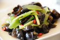 Chinese cuisine Black fungus Royalty Free Stock Photo