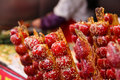 Chinese cuisine snacks of beijing flavour wangfujing Royalty Free Stock Photos