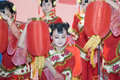Chinese culture - dancers from Shanxi Stock Images