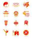 Chinese culture icons | JUICY series Stock Photos