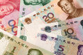 Chinese currency close up lens。 Royalty Free Stock Photo