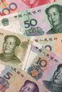 Chinese currency close up lens。 Royalty Free Stock Image