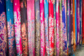 Chinese Dai people's colorful fabric Royalty Free Stock Photo