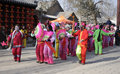 Chinese dance this is china s folk customs people will the and during the spring festival Stock Photos
