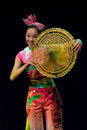 Chinese dancers. Zhuhai Han Sheng Art Troupe. Stock Photography