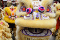 Chinese dancing lion head Royalty Free Stock Photo