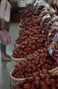 Chinese dates the crimpled skin dark red Royalty Free Stock Photo