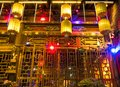 Chinese decoration, architecture and ornaments, night photography at Pingyao Ancient City, Unesco heritage site, China Royalty Free Stock Photo