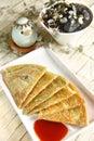 Chinese dessert, green onion pancake Royalty Free Stock Image