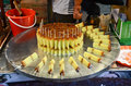 Chinese dessert on a street food stands in lijiang yunnan china Royalty Free Stock Photo