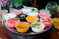Chinese desserts colorful in nanjing jiangsu province china Stock Images
