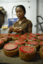The chinese diaspora rice cake made by indonesian people in solo java indonesia people have a long history of migrating overseas Stock Photography