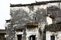 Chinese dilapidated buildings in xicun village china Royalty Free Stock Image