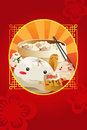Chinese dim sum used for restaurant menu cover a vector illustration of design Stock Image