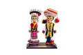 Chinese doll traditional isolated in white background with clipping path Stock Photos