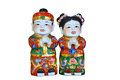 Chinese doll on white background Stock Images