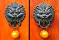 Chinese door handle and knocker Stock Images