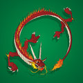 Chinese dragon background cartoon drawing Stock Photo