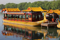 Chinese dragon boat Royalty Free Stock Images
