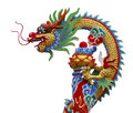 Chinese dragon colorful of statue Stock Photography