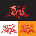 Chinese dragon design vector for art with rgb colors in nice deference backgrounds with black and white or yellow hi resolution Stock Images