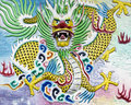 Chinese Dragon High Relief and Wall Painting Royalty Free Stock Photography