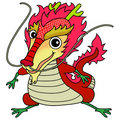 Chinese dragon icon Royalty Free Stock Photos