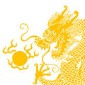 Chinese dragon isolated on white background Stock Photography