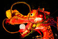 Chinese dragon lantern large style at loy kratong festival Stock Image