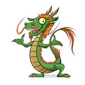 Chinese dragon is opening welcome with a friendly hand Stock Images