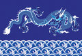 Chinese Dragon on the sea Royalty Free Stock Image