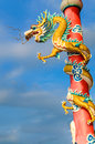 Chinese dragon in the shrine Royalty Free Stock Image