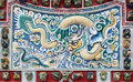 Chinese dragon texture on the wall thailand at bang pa in palace Stock Photos