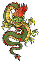 Chinese dragon traditional asian this is vector illustration ideal for a mascot and tattoo or t shirt graphic Royalty Free Stock Photo