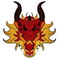 Chinese Dragon, vector illustration cartoon