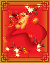 Chinese dragons on color background Royalty Free Stock Photography