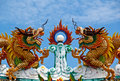 The Chinese Dragons on Roof Royalty Free Stock Image