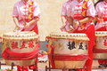 Chinese drummer Royalty Free Stock Images