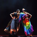 Chinese duo dance : Taste of Yi village Stock Images