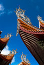 Chinese eaves of temple Stock Image