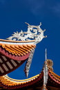 Chinese eaves of temple Royalty Free Stock Photo