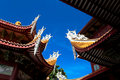 Chinese eaves of temple Royalty Free Stock Image