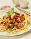 Chinese egg noodles Stock Images