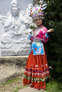 Chinese Ethnic Girl in Traditional Dress Royalty Free Stock Images