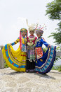 image photo : Chinese Ethnic Girls in Traditional Dress